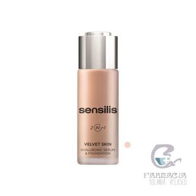 Sensilis Velvet Skin HA Serum & Foundation 02 Noix 30 gr
