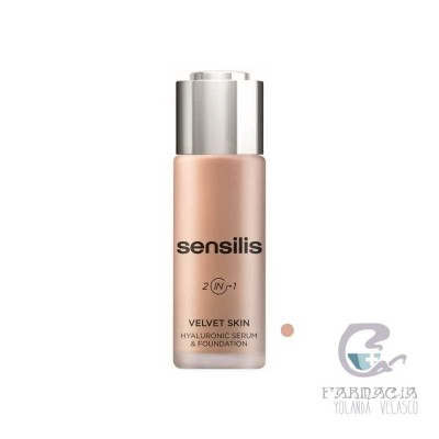 Sensilis Velvet Skin HA Serum & Foundation 04 Noisette 30 gr