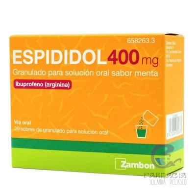 Espididol 400 mg 20 Sobres Granulado Solución Oral Menta