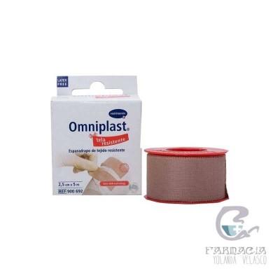Esparadrapo Hipoalergico Omniplast Tejido Resistente 5m x 2,50 cm