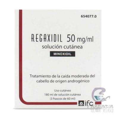 Regaxidil 50 mg/ml Solución Cutánea 3 Frascos 60 ml