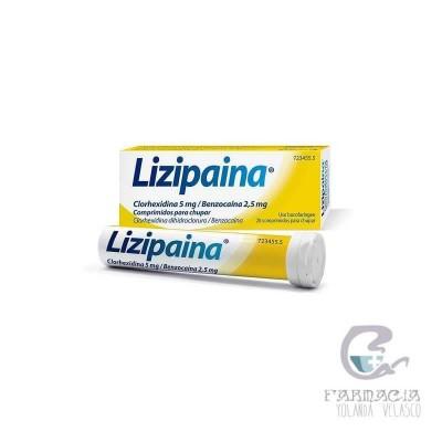 Lizipaina Clorhexidina/Benzocaina 5/2,5 mg 20 Comprimidos Para Chupar