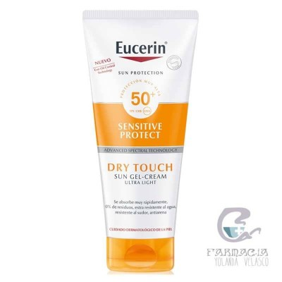 Eucerin Sun Body Gel Cream Dry Touch SPF 50+ Sensitive Protect 200 ml