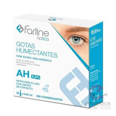 Farline Óptica Gotas Humectantes AH 0,2% Monodosis 0,4 ml 20 Unidades