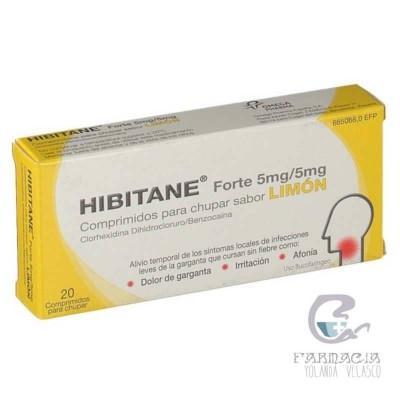 Hibitane 5 mg/ml 20 Comprimidos Para Chupar Sabor Limón