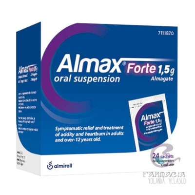 Almax Forte 1.5 g 24 Sobres Suspensión Oral