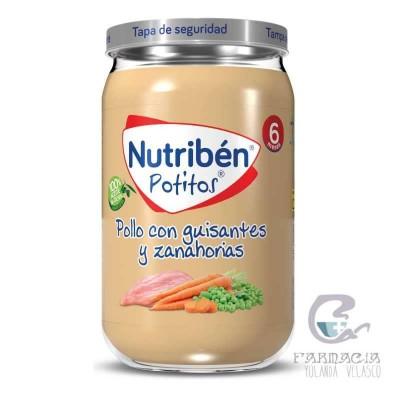 Nutriben Pollo Con Guisantes y Zanahorias Potito 235 gr