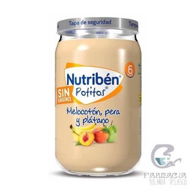 Nutriben Potito Melocotón, Pera y Plátano 235 gr