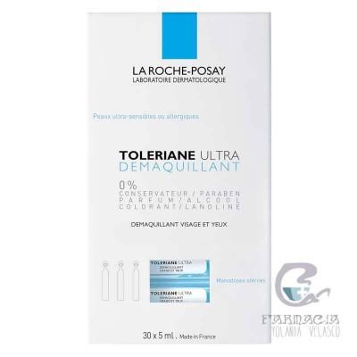 La Roche Posay Toleriane Ultra Desmaquillante Ojos y Rostro 5 ml 30 u