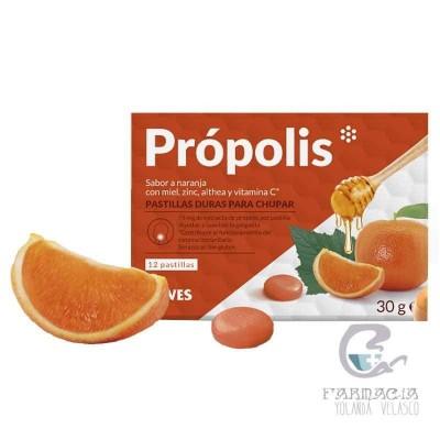 Sawes Própolis Pastillas 12 Unidades Sin Azucar Naranja