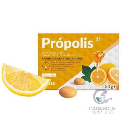Sawes Própolis Pastillas Sin Azucar 12 Unidades 30 gr Limón y Miel