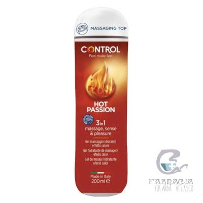Control Gel de Masaje 3 en 1 Hot Passion 200 ml