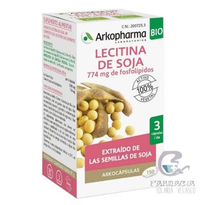 Arkopharma Lecitina de Soja 400 mg 150 Cápsulas