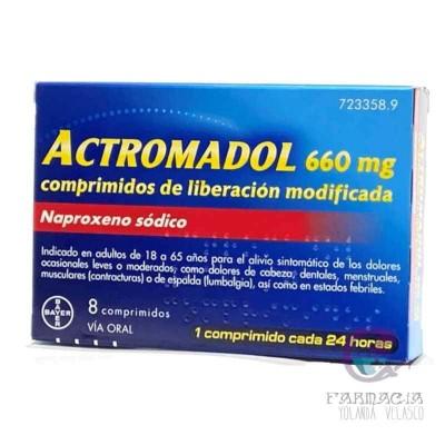 Actromadol 660 mg 8 Comprimidos Liberación Modificada