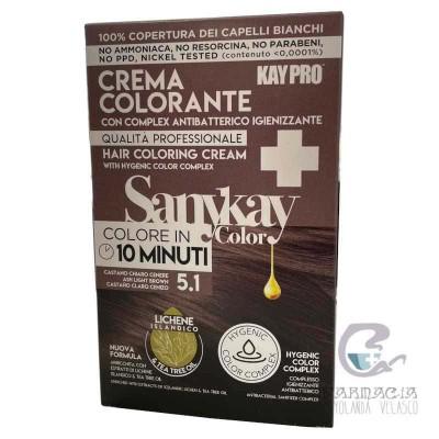 Sanykay Crema Colorante Castaño Claro Cenizo 5.1