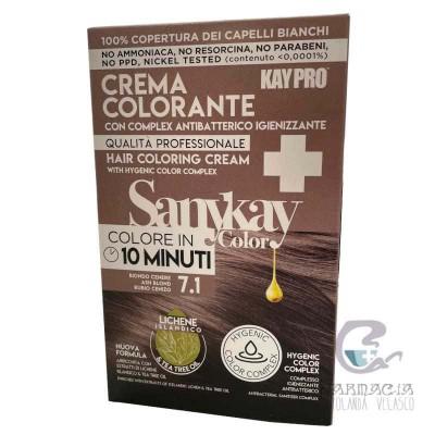 Sanykay Crema Colorante Rubio Cenizo 7.1
