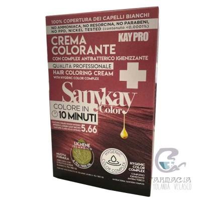 Sanykay Crema Colorante Castaño Claro Rojo Intenso 5.66