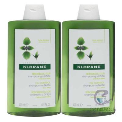 Klorane Pack Duo Champú Ortiga 2x400 ml