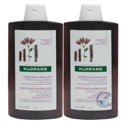 Klorane Pack Duo Champú Quinina 2x400 ml