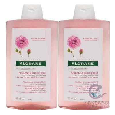 Klorane Pack Duo Champú Peonia 2x400 ml