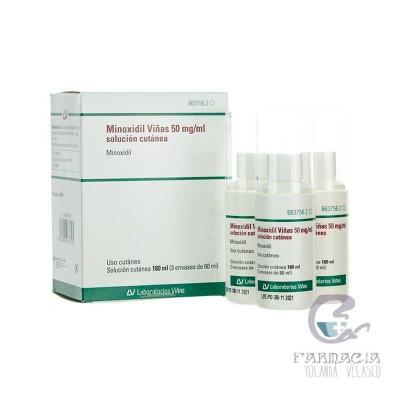 Minoxidil Viñas 50 mg/ml Solución Cutánea 3 Frascos 60 ml