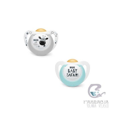 Chupete Látex Nuk Genius Pacifier Baby 2 Unidades Safari 6-18 m + Caja