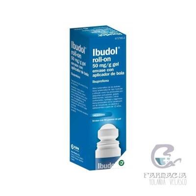 Ibudol Roll-On 50 mg/g Gel Cutaneo 1 Tubo con Aplicador de Bola 60 gr