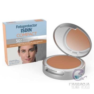 Fotoprotector Isdin Compact Bronze SPF 50+ Maquillaje Compacto