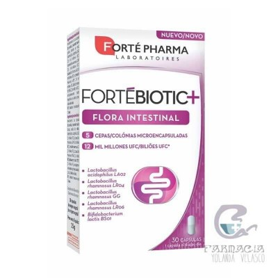 Fortebiotic + Flora Intestinal 30 Cápsulas