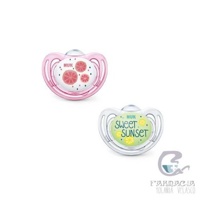 Nuk Chupete Silicona Limited Edition Fruits Day&Night 6-18m 2 Unidades