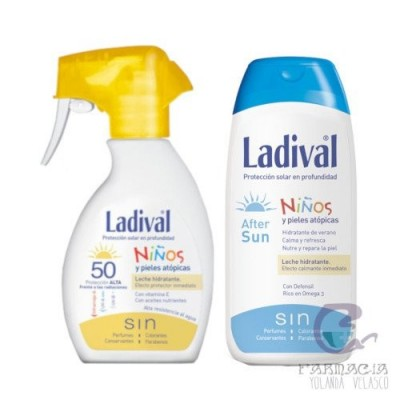 LADIVAL NIÑOS FOTOPROTECTOR FPS50+ SPRAY 200 ML + AFTER SUN